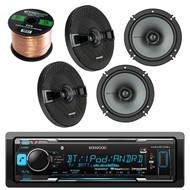 This Bundle Combo Kit Includes Kenwood KMM-BT322U Car Audio Receiver + 2 Pair Of Kicker 44KSC6504 6.5 Inch Car Stereo Speakers + 2x 25ft (total of 50 Feet) 16 Gauge Speaker Wire