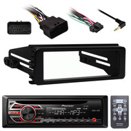 Pioneer DEH150MP Mp3 CD AUX Receiver, Metra 99-9600 98-2013 FLHX DIN Install Kit