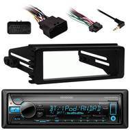Harley 98-2013 FLHX Dash Installation Kit,Kenwood Bluetooth Car CD USB Receiver
