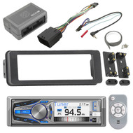 Dual AM615BT Bluetooth CD Radio,Scosche 98-2013 FLHTC Harley Install Adapter Kit