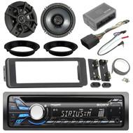 "Sony CD/MP3 Car Stereo Receiver, Kicker 43CSC654 600-Watt 6-1/2"" Inch CS Series 2-Way Black Car Coaxial Speakers, Harley 98-2013 Install Kit"
