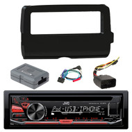 JVC KD-R670 Single DIN In-Dash CD/AM/FM/ Receiver,  Scosche 2014-Up Harley Davidson Handlebar Controls, Scosche HD7001B 2014-Up Harley Davidson Stereo Install Dash Kit