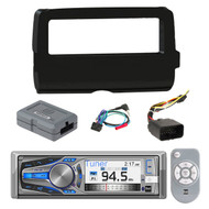 Dual AM615BT Marine Boat Motorcycle Bluetooth CD MP3 Stereo Receiver,  Scosche 2014-Up Harley Davidson Handlebar Controls, Scosche HD7001B 2014-Up Harley Davidson Stereo Install Dash Kit