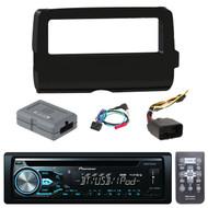 Pioneer DEH-X4900BT Single DIN In-Dash CD/AM/FM Bluetooth Receiver,  Scosche 2014-Up Harley Davidson Handlebar Controls, Scosche HD7001B 2014-Up Harley Davidson Stereo Install Dash Kit