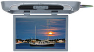 """Tview 20"""" Flip Down Monitor With Built In Dvd Player Gray"""