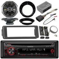 "CD Kenwood Mp3 Radio,Kicker 6.5""Speakers,Harley 98-2013 Install FLHX Adapter Kit"