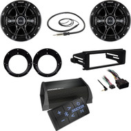 Kicker Bluetooth Amplifier,Speaker/Adapters,Antenna,Harley FLHX Dash Install Kit