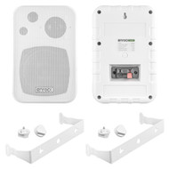 Enrock Audio Systems 4-Inch 3-Way In Door/Out Door Box-Speaker (White) EKMR408W - Pair