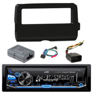 JVC KD-X330BTS Car In Dash Digital media Bluetooth AM/FM Radio Receiver,  Scosche 2014-Up Harley Davidson Handlebar Controls, Scosche HD7001B 2014-Up Harley Davidson Stereo Install Dash Kit