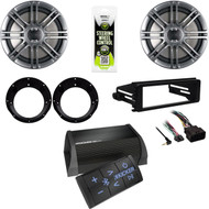 Kicker Bluetooth Amplifier, Harley Install Adapter FLHX Kit, Speakers/ Adapters