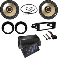"Polk 6.5"" Speakers , Adapters, Harley FLHX DIN Kit, Antenna, Bluetooth Amplifier"