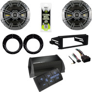 Bluetooth Kicker Amplifier, Speakers/ Adapters, Harley Install FLHT Adapter Kit