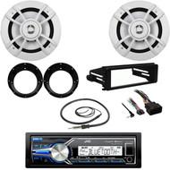 "Bluetooth USB Radio, FLHX FLHT Din Kit, Antenna, 6.5"" 100W Speakers & Adapters"
