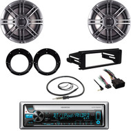 Bluetooth CD Radio, Harley FLTC Dash Kit, Antenna , 6.5''Polk Speakers, Adapters