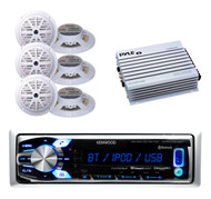 "Best Marine In Dash AUX USB AM/FM Bluetooth Radio, 6 x 5.25"" Speakers, 400W Amp"