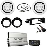 Kenwood 4 Channel  Marine Amp, Antenna, Harley FLHX Dash Kit,  Speakers/Adapters