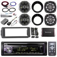 98-2013 Bluetooth FLHTC CD Adapter Install Kit, Kicker Speaker Set, 300W Amp Set