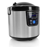NutriChef 10-In-1 Rice Multi Cooker Rice Soup Bean Cooker - 10 Automatic Functions - 6 Qarts - 24Hr Dealy Timer (PKMRC46)