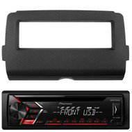 Pioneer DEH-S1000UB CD MP3 Playback AM/FM Radio Single Din Car Receiver with Remote, Scosche HD7001B 2014-Up Harley Davidson Stereo Install Dash Kit