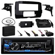 JVC KD-RD87BT Bluetooth iPod Android USB/MP3/WMA CD Player Stereo Receiver, Metra 99-9700 Harley Davidson Dash Kit, Metra Axxess ASWC-1 Universal Steering Wheel Control Interface, EKMR1 Enrock Marine Black Wire Antenna
