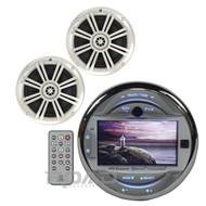 """MGH30BT Boat Marine USB Receiver 3"""" LCD AUX USB Input, 6.5"""" Kicker 4ohm Speakers"""