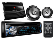 "Pioneer Pandora Bluetoot USB iPhone CD AUX Radio,6.5""Speakers,Car 400W Amplifier"