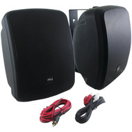 New Pyle PDWR54BTB Waterproof and Bluetooth 5.25'' Indoor/Outdoor Speaker System, 600 Watt, Black, Pair