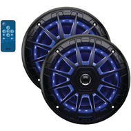 "BOSS Audio MRGB65B Marine 6.5"" Inch 2-way 200-watt Full Range Speakers with Multicolor Illumination Options"