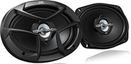 JVC CS-J6930 6 x 9 Inches 400W Max 3-Way Coaxial Speakers, Set of 2