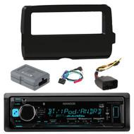 Kenwood KMMBT322U Car Audio Bluetooth Stereo Digital Receiver AUX USB SiriusXM,  Scosche 2014-Up Harley Davidson Handlebar Controls, Scosche HD7001B 2014-Up Harley Davidson Stereo Install Dash Kit