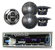 New KMR-D368 Marine CD Radio USB MP3 iPod iPhone  Receiver Remote 2 Speakers Pkg