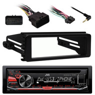 KDR670 AUX AM FM CD USB Car Radio, 98-2013 FLHX Harley 98-2013 Installation Kit