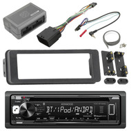 Bluetooth Kenwood CD Radio, Scosche  98-2013 Touring FLHX Install Adapter Kit