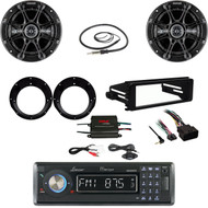 Lanzar Bluetooth Radio,99-9600 FLHX Harley DIN Kit,Amp,Antenna,Speakers/Adapters