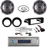 "Lanzar Bluetooth Stereo,98-2013 Install Dash Kit,Amp,6.5"" Speaker Set & Adapters"