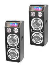 Pyle 1000W 2Way Bluetooth Speaker With DJ Lights & Pyle 2Way Passive DJ Speaker