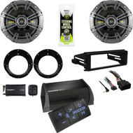 Kicker Bluetooth Amplifier, FLHX Dash Adapter Kit, XM Tuner, Speakers/ Adapters