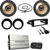 KACM1824BT Kenwood Amplifier, Speakers/Adapters,FLHX Harley Install Kit, Antenna