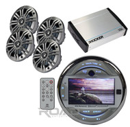 "New Dual USB Bluetooth 3"" LCD Stereo, 400W Kicker Amplifier 6.5"" Kicker Speakers"
