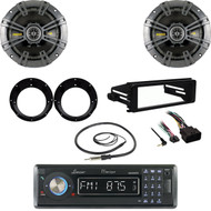 Bluetooth Lanzar Radio, FLHX Harley FLHT Install Dash Kit, Speaker Set, Antenna