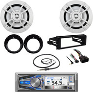 "Dual Bluetooth CD Radio, FLHX Harley DIN Kit, 6.5"" Speakers/ Adapters, Antenna"