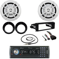 "Marine Bluetooth CD Radio, Harley FLHX DIN Kit, Adapters & 6.5""Speakers, Antenna"