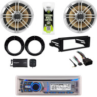 Dual Bluetooth Harley 98-2013 Install FLHT Dash Kit, XM Tuner, Speakers/Adapters