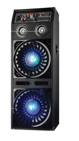 New Pyle - PSUFM1070P , Sound and Recording , PA Loudspeakers - Cabinet Speakers , Disco Jam 2 Passive Powered Speaker System, Flashing DJ Lights, Dual 10-Inch Woofers, Dual 3-Inch Tweeters, 1500 Watt (Works with Active Speaker Model: PSUFM1072BT)