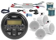 """Marine Amplifer,Milennia Marine Bluetooth USB Radio/Antenna,6.5""""Marine Speakers&Wires"""