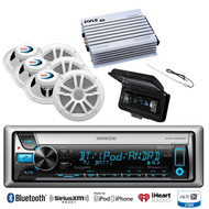 "6 Marine 6.5""Speakers,Amplifier,Antenna,Cover,Kenwood Bluetooth iPod CD Receiver"