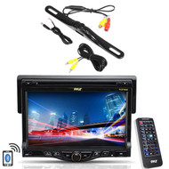"""Pyle 7"""" LCD Bluetooth CD Mp3 AUX Receiver, Black Waterproof Rear Back Up Camera"""