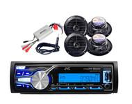 "New Boat Radio USB iPod iPhone Control Player, 6.5"" Speakers, 800W Amp,Antenna"