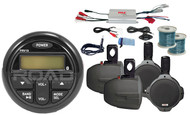 "Amplifier,6.5""Marine Speakers & Wires, Milennia Marine Bluetooth Radio/Antenna"