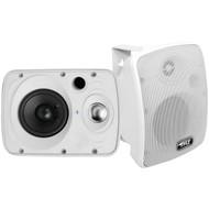 Pyle PDWR64BTW Waterproof and Bluetooth 6.5'' Indoor/Outdoor Speaker System, 800 Watt, White, Pair